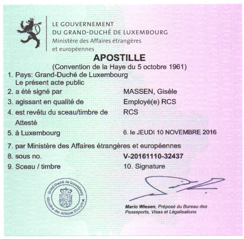 Apostille from Luxembourg title=