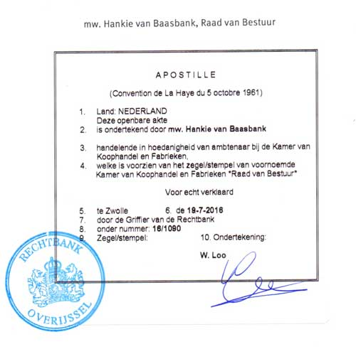 Apostille from the Netherlands