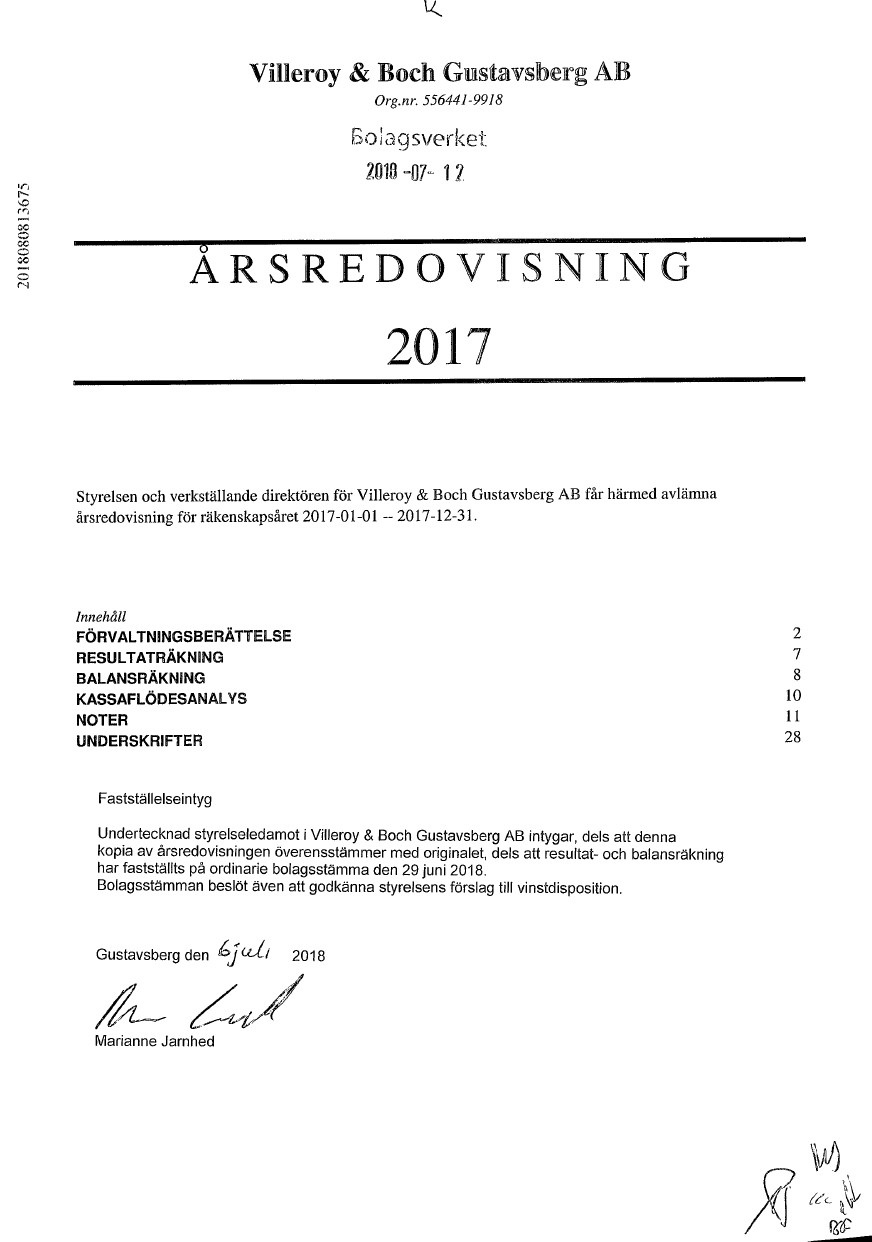 Other documents from commercial register of Sweden